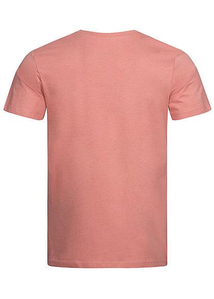 Jack and Jones Herren T-Shirt Sommer Frontprint rosette rot