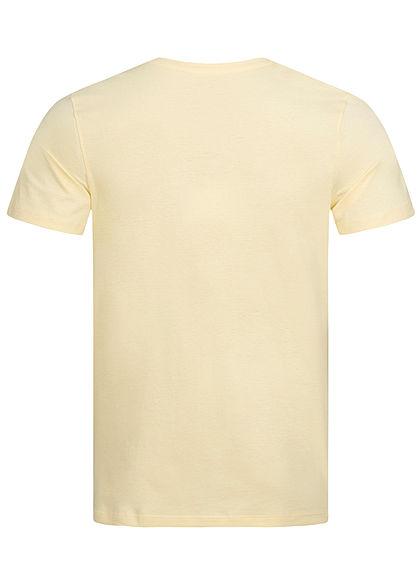 Jack and Jones Herren T-Shirt Tropical Print flan gelb