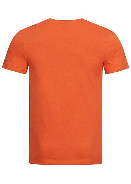 Jack and Jones Herren T-Shirt Legendary Print burnt rot