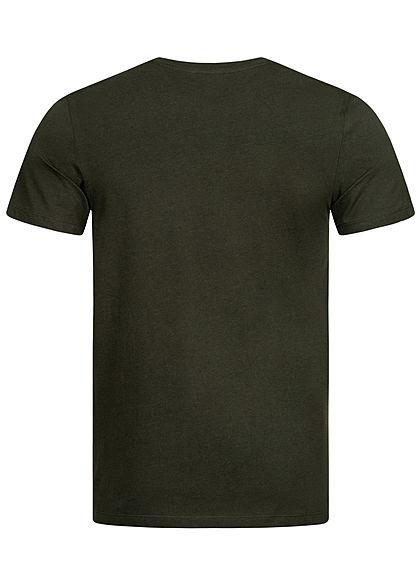 Jack and Jones Herren T-Shirt Logo Print rosin dunkel grau