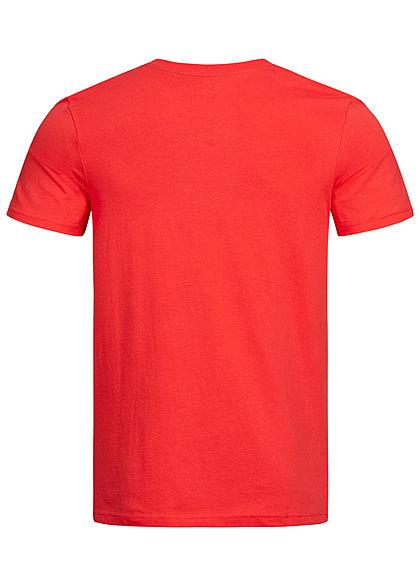 Jack and Jones Herren T-Shirt Logo Print bittersweet rot