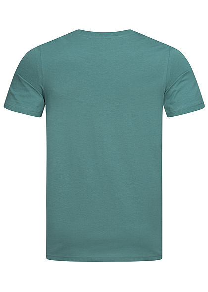 Jack and Jones Herren T-Shirt Logo Print north atlantic blau