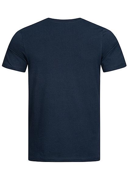 Jack and Jones Herren T-Shirt Logo Print sky captain blau