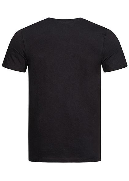 Jack and Jones Herren T-Shirt Logo Print CORE schwarz rot