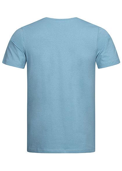 Jack and Jones Herren T-Shirt Logo Print CORE dusky hell blau