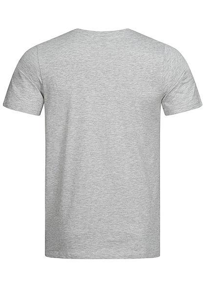 Jack and Jones Herren T-Shirt Logo Print CORE hell grau atlantic grün
