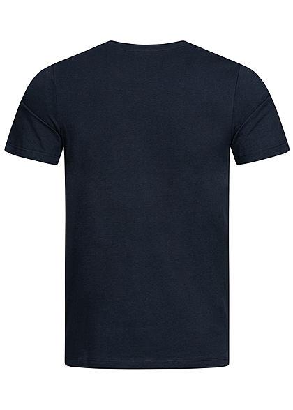 Jack and Jones Herren T-Shirt Logo Print CORE sky captain blau