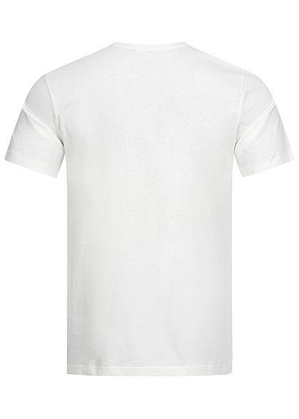 ONLY & SONS Herren T-Shirt Summer Sunset Surfer Print cloud dancer weiss