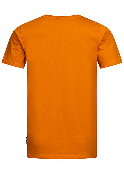 ONLY & SONS Herren T-Shirt Venice Beach Palmen Print orange
