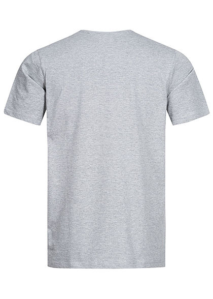 ONLY & SONS Herren T-Shirt Funny Animal Print medium grau melange
