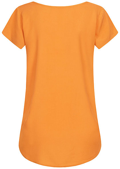 Eight2Nine Damen Blusen Shirt Vokuhila amber orange