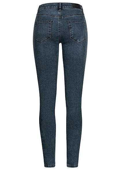 Vero Moda Damen NOOS Skinny Jeans Hose 5-Pockets Super Slim Fit dunkel blau denim