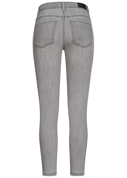 Vero Moda Damen NOOS Slim Fit Jeans Hose 5-Pockets hell grau denim