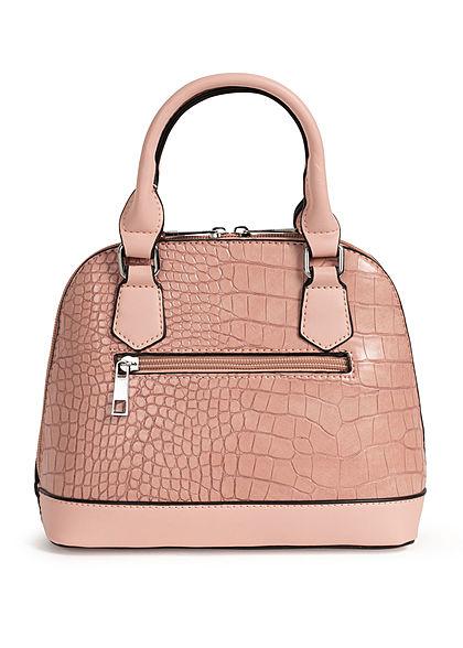 Styleboom Fashion Damen Mini Handtasche Schlangenhaut Optik ca. 24x19cm rosa pink