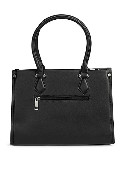 Styleboom Fashion Damen Handtasche Kunstleder ca. 33x25cm schwarz