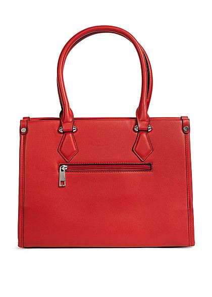 Styleboom Fashion Damen Handtasche Kunstleder ca. 33x25cm rot