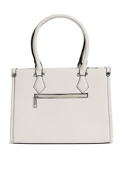 Styleboom Fashion Damen Handtasche Kunstleder ca. 33x25cm weiss