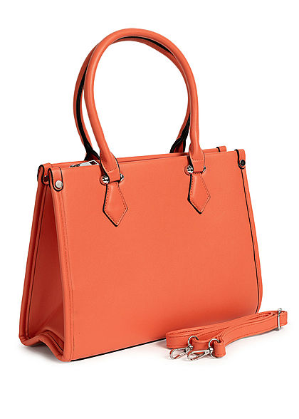 Styleboom Fashion Damen Handtasche Kunstleder ca. 33x25cm orange