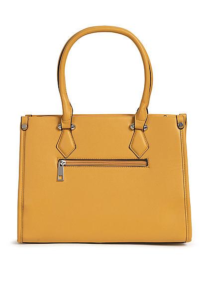Styleboom Fashion Damen Handtasche Kunstleder ca. 33x25cm gelb