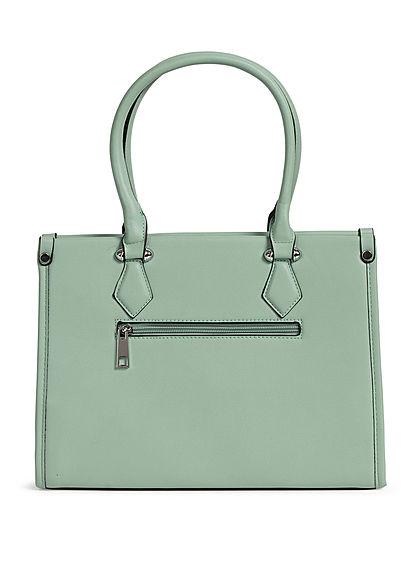 Styleboom Fashion Damen Handtasche Kunstleder ca. 33x25cm grün