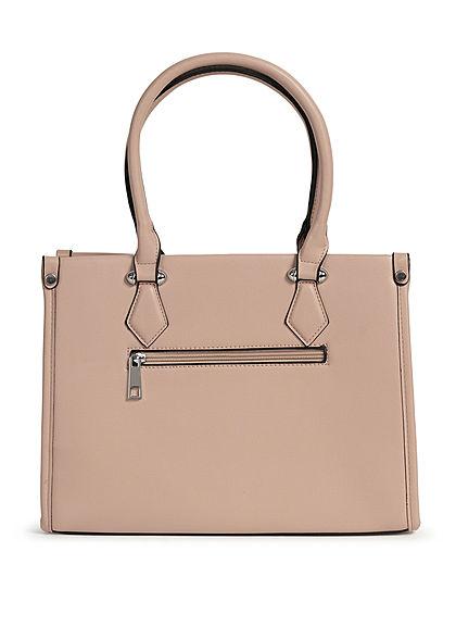 Styleboom Fashion Damen Handtasche Kunstleder ca. 33x25cm beige