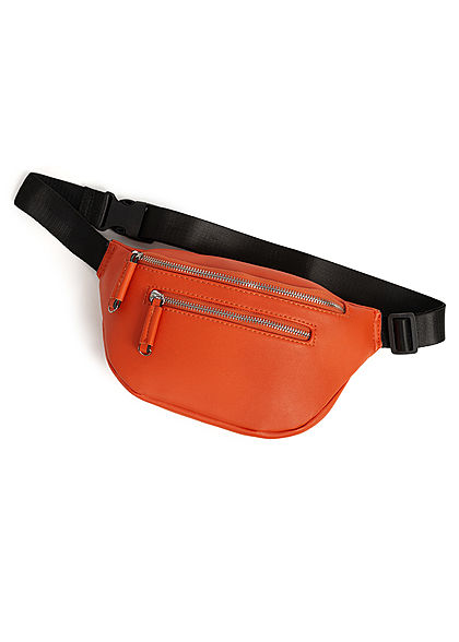 Styleboom Fashion Damen Bauchtasche Kunstleder ca. 27x15cm orange