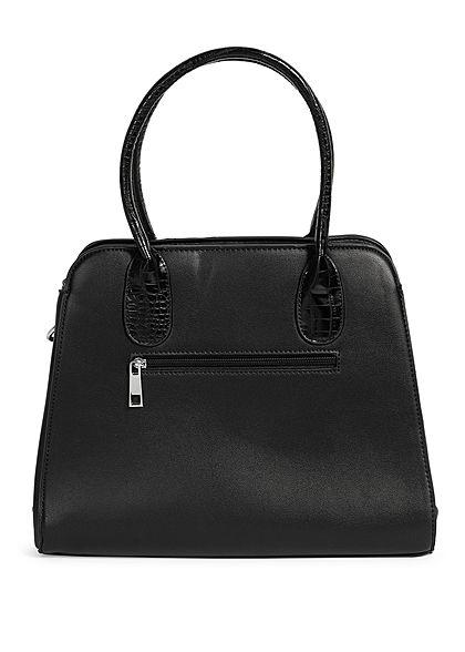 Styleboom Fashion Damen Handtasche Kunstleder ca. 36x28cm schwarz