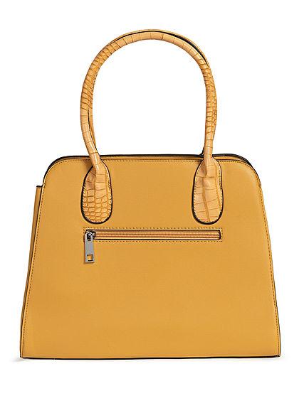Styleboom Fashion Damen Handtasche Kunstleder ca. 36x28cm gelb
