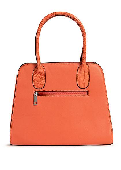 Styleboom Fashion Damen Handtasche Kunstleder ca. 36x28cm orange