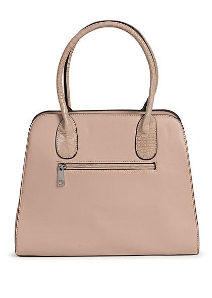 Styleboom Fashion Damen Handtasche Kunstleder ca. 36x28cm tan beige