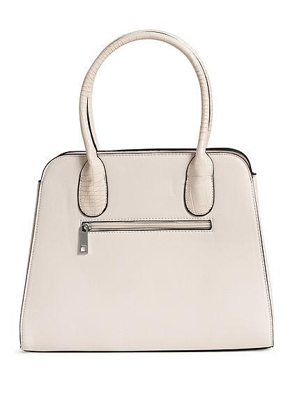 Styleboom Fashion Damen Handtasche Kunstleder ca. 36x28cm natural beige