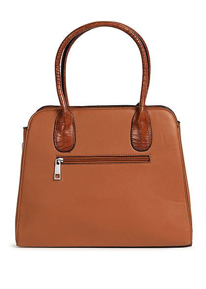Styleboom Fashion Damen Handtasche Kunstleder ca. 36x28cm braun