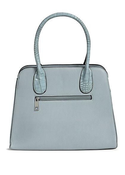 Styleboom Fashion Damen Handtasche Kunstleder ca. 36x28cm hell blau