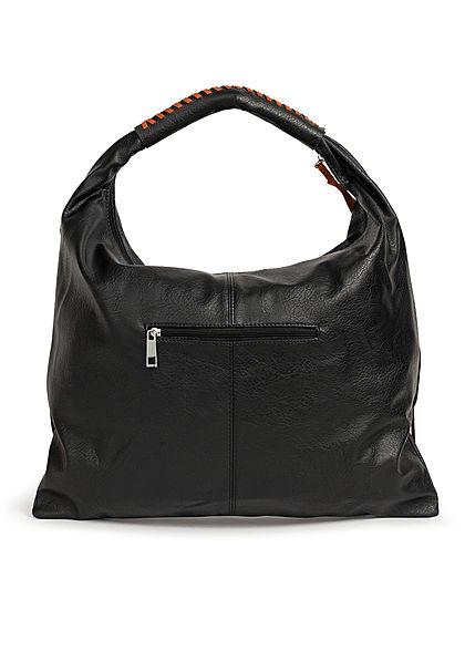 Styleboom Fashion Damen 2-Tone Handtasche Kunstleder ca. 47x36cm schwarz