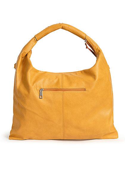 Styleboom Fashion Damen 2-Tone Handtasche Kunstleder ca. 47x36cm gelb