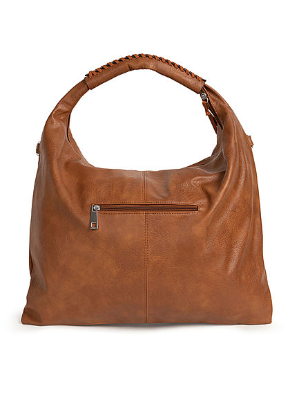 Styleboom Fashion Damen 2-Tone Handtasche Kunstleder ca. 47x36cm braun