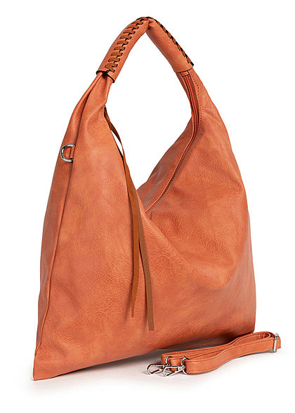 Styleboom Fashion Damen 2-Tone Handtasche Kunstleder ca. 47x36cm orange