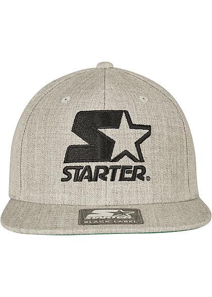 Starter TB Logo Snapback Cap grau