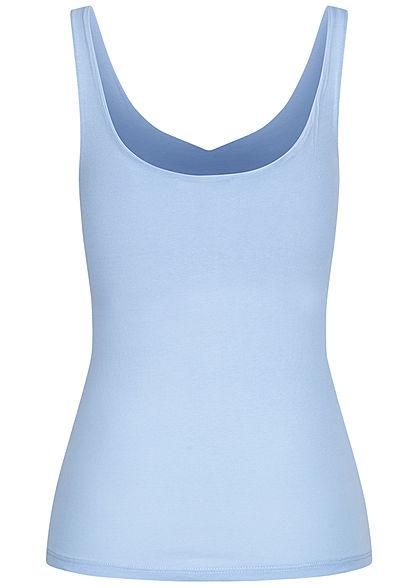 Hailys Damen V-Neck Top hell blau