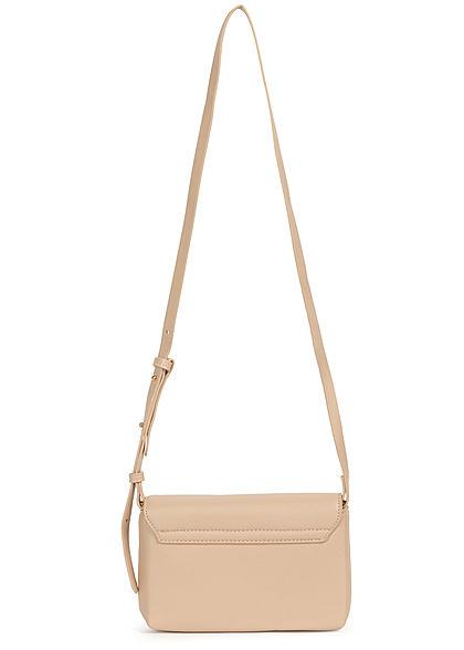 Hailys Damen Mini Kunstleder Handtasche Clutch ca. 14x23cm beige