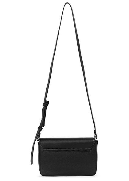 Hailys Damen Mini Kunstleder Handtasche Clutch ca. 14x23cm schwarz
