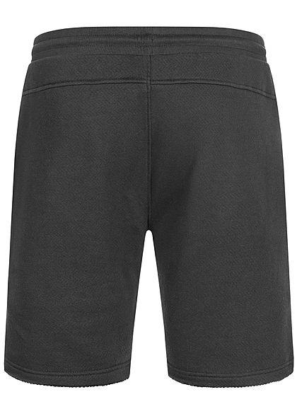Seventyseven Lifestyle Herren Sweat Shorts 2-Pockets offene Kanten schwarz