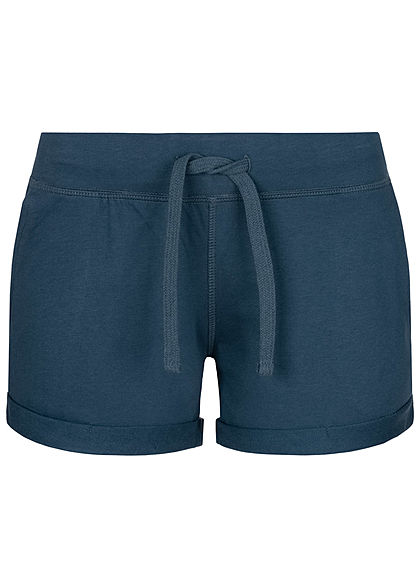 Seventyseven Lifestyle Damen Sweat Shorts Tunnelzug 2-Pockets navy blau - Art.-Nr.: 20068060