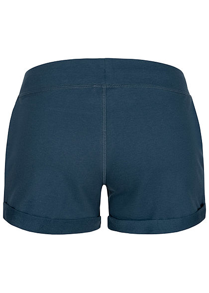 Seventyseven Lifestyle Damen Sweat Shorts Tunnelzug 2-Pockets navy blau