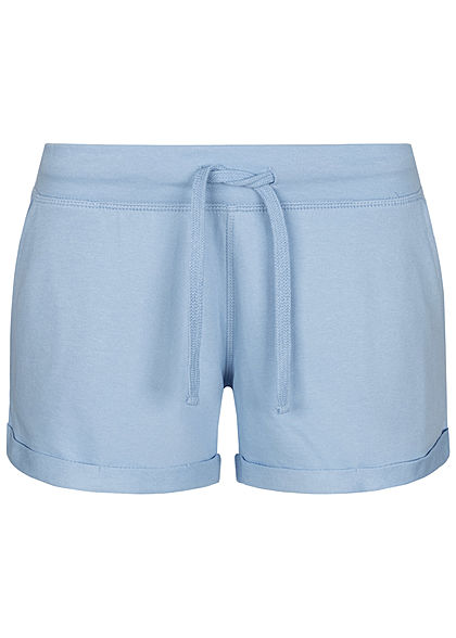 Seventyseven Lifestyle Damen Sweat Shorts Tunnelzug 2-Pockets hell blau - Art.-Nr.: 20068062