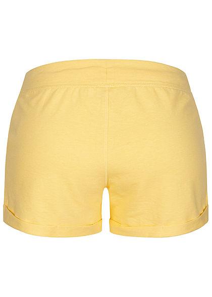 Seventyseven Lifestyle Damen Sweat Shorts Tunnelzug 2-Pockets gelb