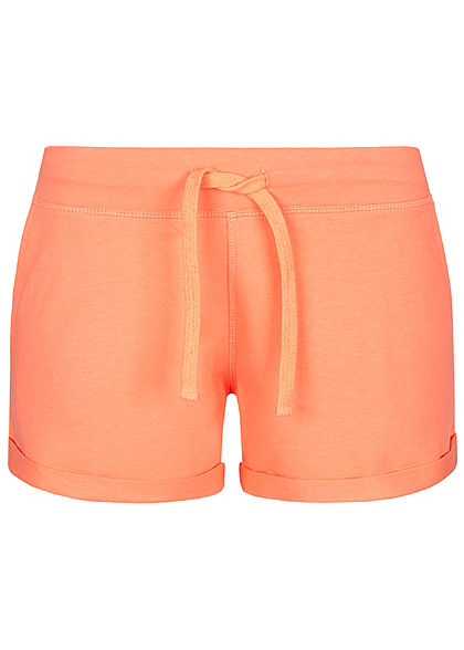 Seventyseven Lifestyle Damen Sweat Shorts Tunnelzug 2-Pockets rosa