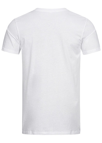 Seventyseven Lifestyle Herren Basic V-Neck T-Shirt weiss