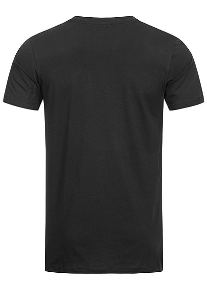 Seventyseven Lifestyle Herren Basic V-Neck T-Shirt schwarz