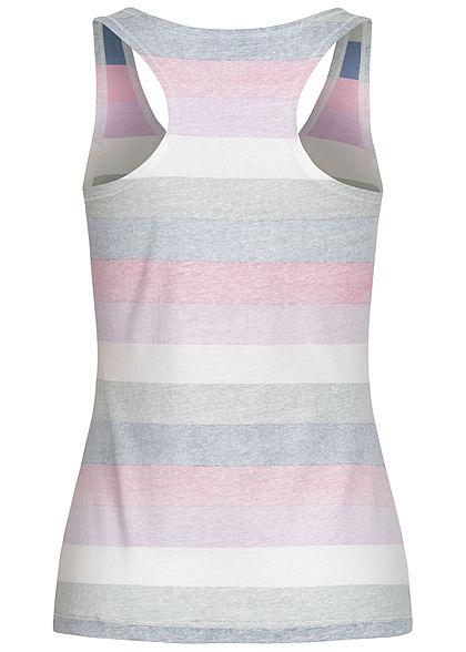 Seventyseven Lifestyle Damen Multicolor Tank Top Inside Streifen Print blau weiss grau